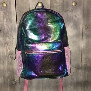 Under One Sky Backpack Sparkly Rainbow Colors